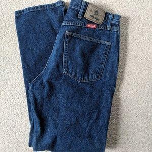 Vintage Dark Wash Wrangler Denim Jeans 34 x 32